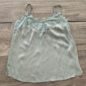 Sage green lightweight lace camisole tank top